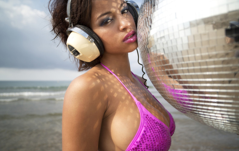 Pretty Girl with Headphones: Approach with Caution